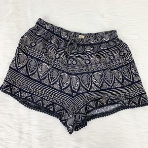 Hollister Tribal Print Fabric Soft Shorts Casual